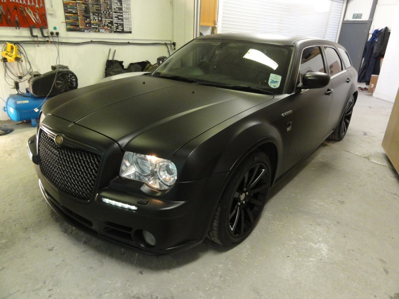 RT-Performance - Hemi V8 Chrysler 300 after full body wrap and customization in London