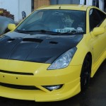 Supercharged Toyota Celica – bodykit fitting and spray job