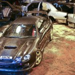 ST205 Celica GT4 – custom carbon fibre bodykit installation and respray