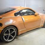 Nissan 350z orange car accident repair