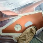 Nissan 350z orange accident repair