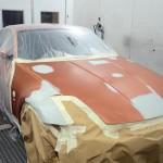 Nissan 350z orange accident repair in london