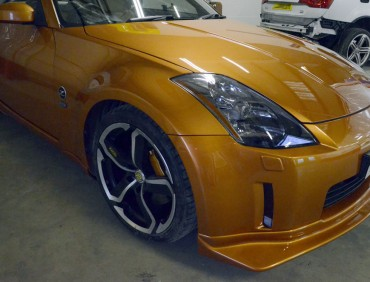 Nissan 350z orange car body repair london