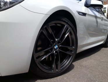 BMW alloy wheel refurb at RT Performance in London
