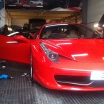 ferrari window tinting in london at rt performance