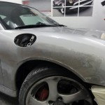 porsche 996 accident repair in london at rt performance