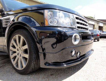 range rover front bumper installation at rt performance in london